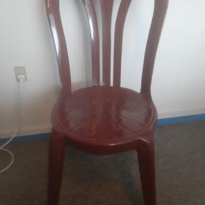 Plast stol vinrød