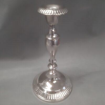 Lysestage sølv enkelt